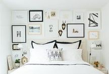 gallery walls / Gallery walls inspiration. How to put together a gallery wall. Interior design. Home Decor.
