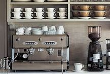 espresso bars / Espresso bar DIY. Espresso bar home decor. How to make an espresso bar at home. WE LOVE COFFEE.