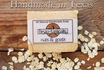 Our Handmade Products / Made by hand in small batches with pure essential oils, herbs, & goats milk from our farm.
