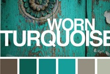 shades of turquoise, mint & teal