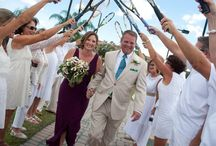 Tennis Themed Wedding / Carrollwood Country Club Tampa, FL - A tennis themed wedding featuring beautiful scenery, golf course, tennis court ceremony, tennis rackets, signed tennis balls, ballroom reception, and beautiful florals.