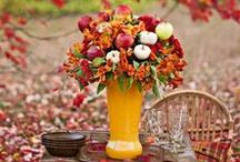 Fall Decorating / Easy decorating for fall with fruit and other fun things :)