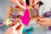get moving / This spring we're partnering with Tesco to turn pink for Cancer Research UK. Find limited edition pink graze snacks in your nearest Tesco while stocks last!