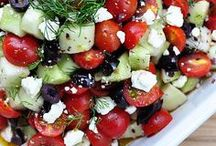 Heart-Healthy Mediterranean Recipes / Recent research has shown that eating a Mediterranean diet lowers the risk of heart attack and stroke. This includes olive oil, nuts, fish, fruit, vegetables, and a glass of wine every day. The Greeks do it right!