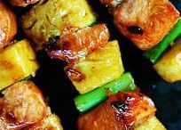 Kabobs / It doesn't have to be summer for a kabob! Food on a stick is fun!