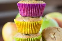 Healthier Muffins / Most muffins can be made without butter and  lots of different fruits and vegetables can be incorporated, which makes them healthy snacks.