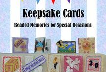 Keepsake Cards / This board is all about my tenth beading book, 'Keepsake Cards'. Learn how to make a miniature beaded card, then decorate it, plus additional design ideas and guidance for creating your own special cards.