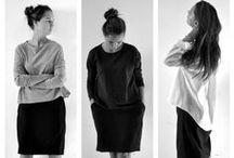 COLLECTION HIVER 14/15 / Pour cette collection Automne-Hiver 2014/2015, le VDJ a voulu créer des modèles très épurés, minimalistes et intemporels. Nous nous sommes concentrés sur les jeux de volume et de déformation dus à l'usure des vêtements. La collection est déclinée en deux lainages: un lainage à chevron très souple et un lainage uni plus rigide.