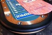 Sports Themed Poker Tables / #poker #pokertables #pokerchips #pokersite #custompokertable #pokertablesports #sports #sportscustomfelt