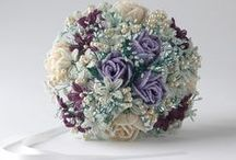 Beaded Wedding Bouquets / This board features wedding bouquets I have made for brides around the world and designs that featured in my book, Bead Flowers and Wedding Bouquets