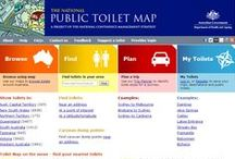 National Public Toilet Map / The National Public Toilet Map (the Toilet Map) shows the location of more than 16,000 public and private public toilet facilities across Australia. Details of toilet facilities can also be found along major travel routes and for shorter journeys as well. Useful information is provided about each toilet, such as location, opening hours, availability of baby change rooms, accessibility for people with disabilities and the details of other nearby toilets. / by Australian Department of Health
