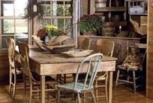 Kitchens, log,primitive, shabby chic. / I could get used to these. Stunning / by Brenda Williams