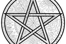 Coloring Pages / Just a bunch of Pagan-friendly pages for coloring