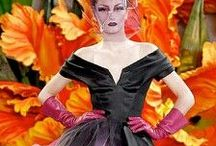 """Christian Dior Couture 2010 / The British designer, John Galliano , created an extraordinary, technicolour, fashion """"garden"""" in his haute couture collection for the French 'maison' of Christian Dior. Thank you for following me!"""