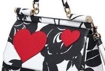 White with Black & Red ✿⊱╮ Fashion / Thank you for following me! Please, pin with respect!