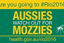 Zika #Rio2016 / If you are travelling to the Summer Olympic and Paralympic Games in Rio de Janeiro, Brazil you need to be aware of the risk of mosquito-borne viruses.  For more information visit: www.health.gov.au/rio2016
