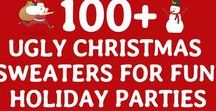 Ugly Christmas Sweater Party / I can't wait until our Ugly Christmas Sweater Party! Here are some #ideas #games #food #invite #invitations #decorations #decor #outfit #prizes #favors #party #booth #adults #kids #family #friendly #drinks #appetizers #snacks #sliders #centerpieces #cake #flyer #pictures #theme #sign #couples #meme #table #tabletop #cocktails #contest #voting #makeup #friends #hilarious #supplies #holiday #props #ballot #gift #free #life #awesome #minutetowinit #candycanes #tree #skirts #winter #lights #crafts
