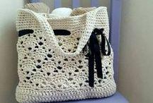 Horgolt táskák, tárolók