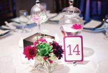 Place cards + table numbers