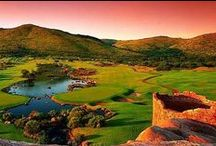 Golf Courses in So. Africa / There are great golf courses in So. Africa.  The prices are pretty low for green fees too!