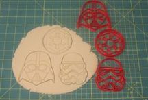Star Wars Cookie Cutters / 3d printed cookie cutters.
