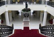 The Yeatman Hotel / The lobby staircase of The Yeatman Porto. #rugs #ferreiradesa #hoteltheyeatman #portugal