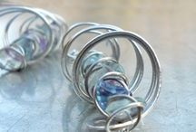 My work / My original handmade jewelery, made from stainless steel and minerals, or soldered.