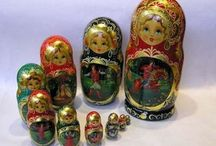 Matryoshkas - Russian Nesting Dolls / I brought several sets of these dolls back from my trip to St. Petersburg. They were beautiful! / by Marnie Miller