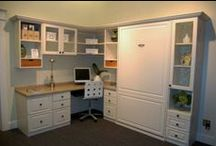 Great home office ideas! / Tired of a boring office and want to utilize space?  Let us help!