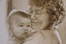Grandma and Baby Portraits / Celebrating the bond between grandmas and babies.