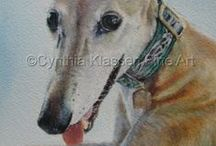 The Gentle Spirit of a Greyhound / Celebrating this noble and gentle breed of dog to encourage greyhound rescue.