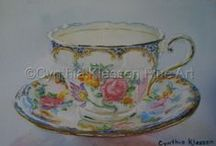 Aynsley China / Beautiful classic, vintage and antique Aynsley fine bone china tea cups and saucers.