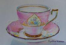 Wellington China / Beautiful Wellington fine bone china tea cups.