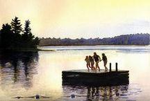 Grundy Lake, Ontario / Beautiful Grundy Lake Provincial Park, Ontario Canada