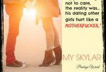 MY SKYLAR / These are teasers for my upcoming novel, My Skylar, a passionate friends to lovers story spanning 15 years.