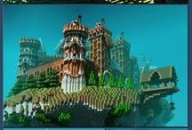 Minecraft / Just some cool minecraft buildings <3
