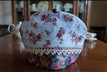 My Tea Cozy Collection / Teapot Couture! My collection of very well insulated hand made upcycled fabric tea cosies.