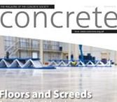 Concrete, March 2016 / March's issue features Floors and Screeds, High-Rise Construction, Concrete Reinforcement and Accessories, Concrete Sawing and Drilling, Sustainable Construction, Cementitious Materials.