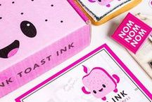 Pink Toast Branding / All Branding and Graphic items pictured are Pink Toast Ink originals