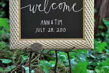 Wedding Sign Ideas / Beautiful, practical signs and menus at special events.