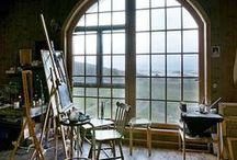 Artist Studio / Ideas & inspiration for an artist's studio | Ateljé | Atelier | Studio | Easel | Palette