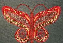 LACE бабулечки-красотулечки / коклюшечное кружево, бабочки