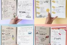 Bullet Journal / Bullet journals, tips, trackers, layouts, collections, headlines, drawings, patterns, etc.