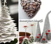 Dekoracje Świąteczne / Dekoracje na Święta. Boże Narodzenie - ozdoby. Dekoracje na stół. Choinka. Ozdoby z filcu