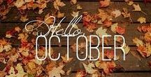 """October Moodboard / """"I'm so glad I live in a world where there are Octobers.""""  ― L.M. Montgomery, Anne of Green Gables"""