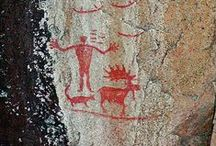 Pictographs & Petroglyphs of the West / For 33 years my husband & I have researched and tracked down as many pictograph sites in British Columbia as we can find. Sometimes it's like finding a needle in a haystack, which just makes the discovery that much sweeter.  Ancient pictographs & petroglyphs have always fascinated me. What was the artist trying to say? Why did he choose this spot? It just adds to the fun & wonder of hunting down an elusive, ancient work of art.