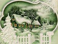 Joulukortteja ja -kuvituksia