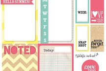 Printable planner and journalist cards