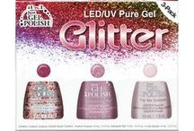 Pure Gel Glitter Kit- LED/UV / Just Gel Polish offers a color themed kit, the Glitter Kit which contains 3 Just Gel Polish themed shades so you can easily create that just so lovely gel polish manicure. Wear the shades alone for an elegant look or layer the shades together for a uniquely stylish statement.  #ibd #ibdnails #ibdgelpolish #gelpolish #gelnails #prettynails #justgelpolish