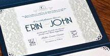 Weddings / Custom wedding invitations, custom designed maps, inserts, programs, table signs, etc.